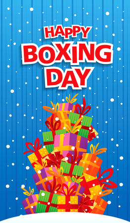 boxing day: Boxing Day banner Illustration