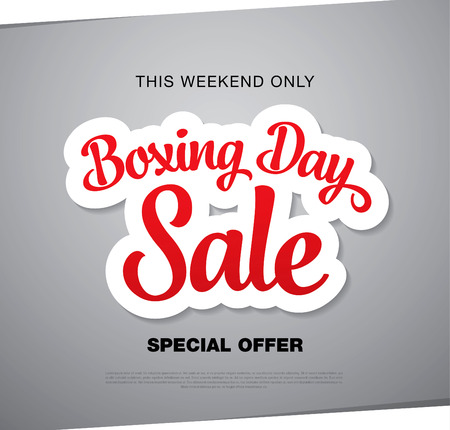 boxing day: Boxing Day sale banner Illustration