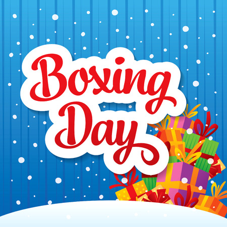 Boxing Day banner Illustration