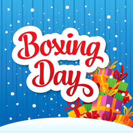 Boxing Day banner Illustration