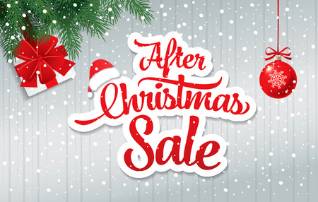 After christmas sale banner