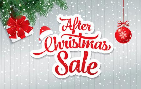 Nach Weihnachten Verkauf Banner Vektorgrafik