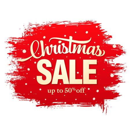 Christmas sale banner, vector illustration Illustration