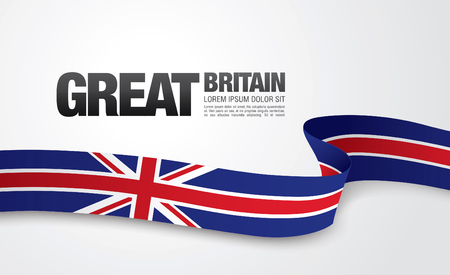 The flag of the United Kingdom of Great Britain and Northern Ireland Stock Illustratie