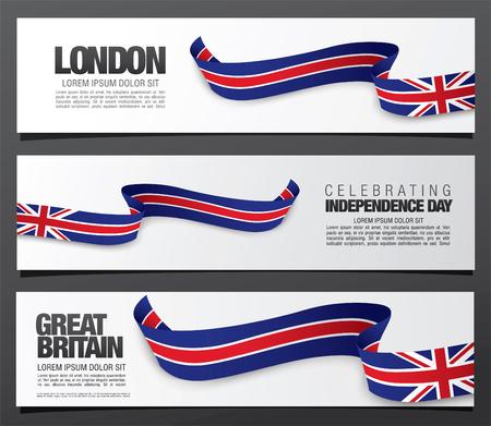 De vlag van het Verenigd Koninkrijk van Groot-Brittannië en Noord-Ierland