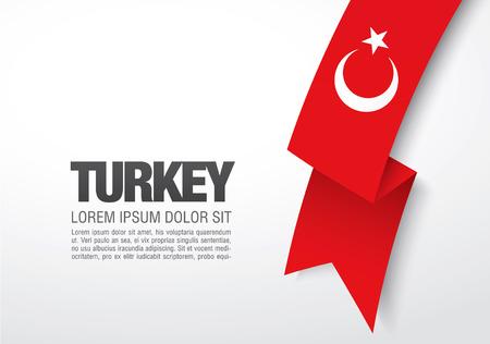 drapeau turc Vecteurs