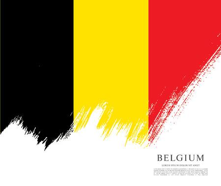 politicians: Flag of Belgium, brush stroke background