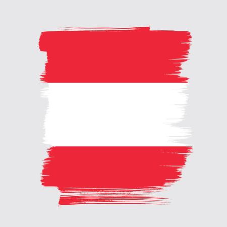 Flag of Austria, brush stroke background