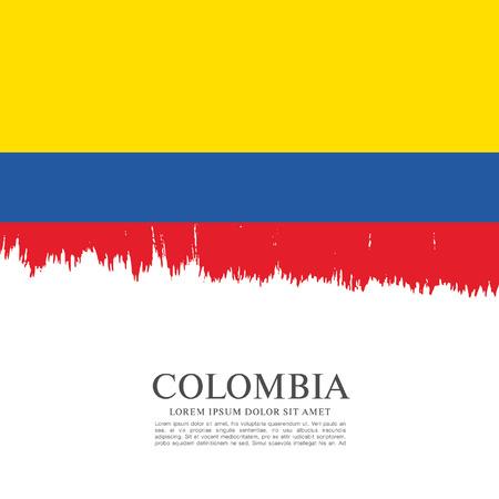 Drapeau de la Colombie, coup de pinceau fond