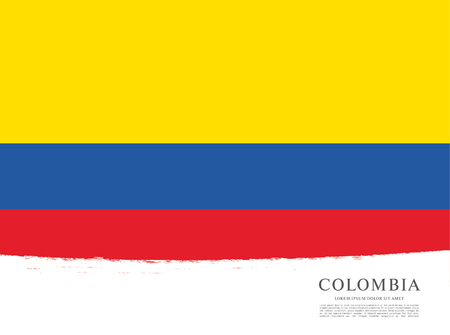 politicians: Flag of Colombia, brush stroke background