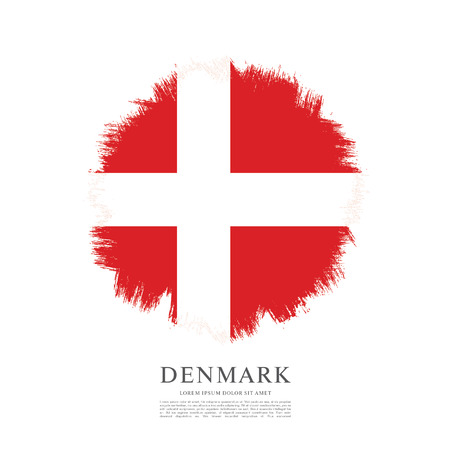 Flag of Denmark, brush stroke background