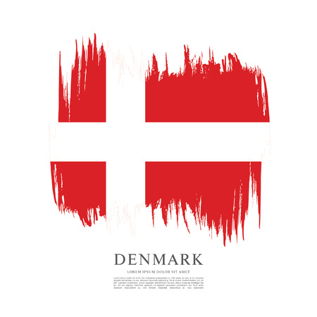 Flag of Denmark, brush stroke background