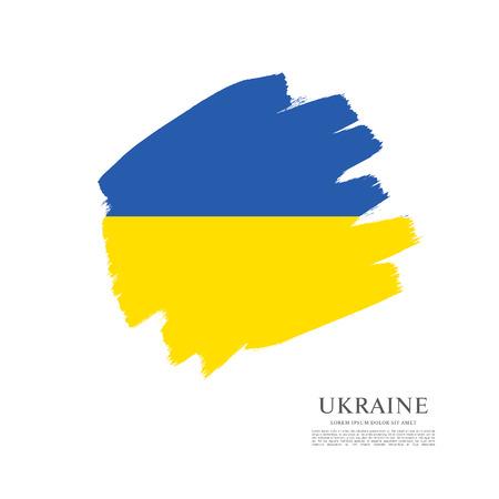 Flag of Ukraine, brush stroke background
