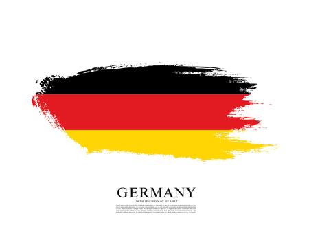 Flagge der Bundesrepublik Deutschland, Pinselstrich Hintergrund Vektorgrafik
