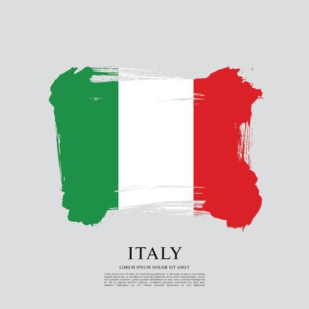 Bandera de Italia, fondo de trazo de cepillo