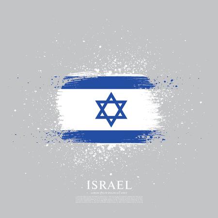 Flag of Israel, brush stroke background