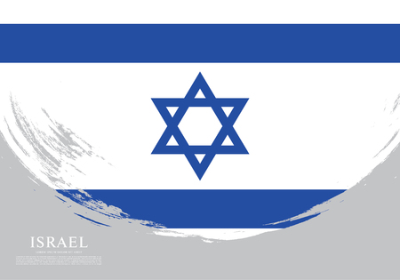 Flag of Israel, brush stroke background