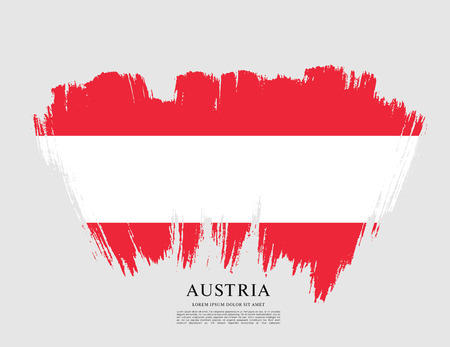 Flag of Austria, brush stroke background
