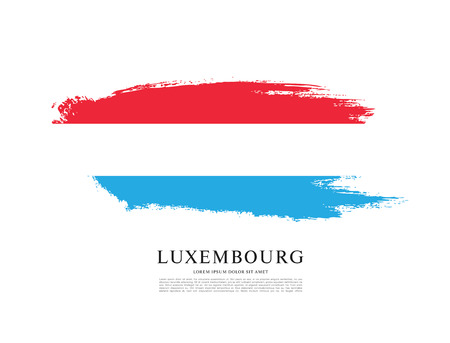 luxembourg: Flag of Luxembourg, brush stroke background