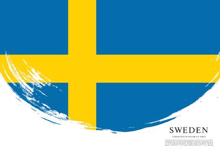 Flag of Sweden, brush stroke background