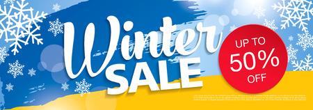 Winter verkoop banner, vectorillustratie