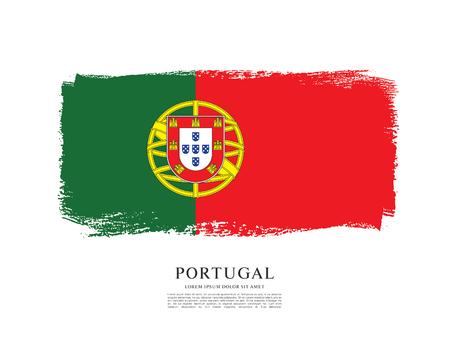 포르투갈의 국기, 브러쉬 획 배경