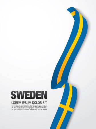 Schwedische Flagge Standard-Bild - 70188918