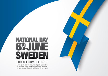 Swedish flag. 6 th of June. National Day