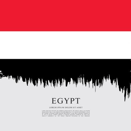 bandera de egipto: Bandera de Egipto, fondo de pincel