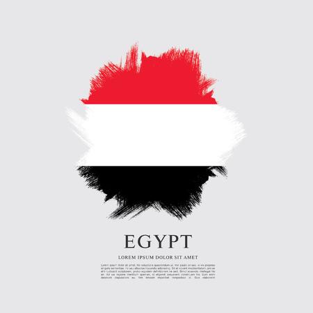 Flag of Egypt, brush stroke background Illustration