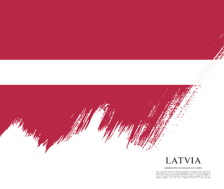 Flag of Latvia, brush stroke background