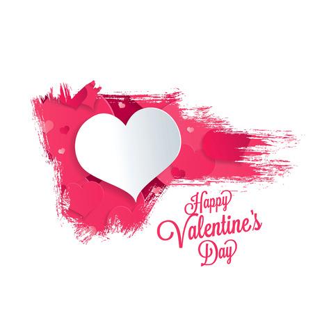 Valentines greeting card. Happy Valentines Day