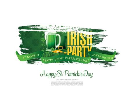 saint: Happy Saint Patricks day. Vector illustration