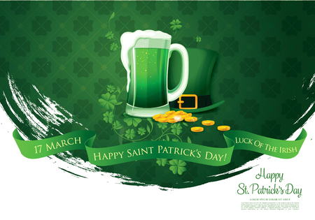 Happy Saint Patrick's day. Vector illustration