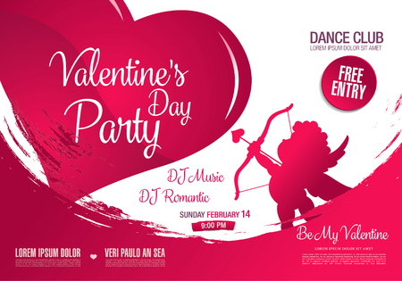 Valentines day poster template design