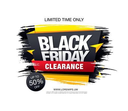 Black Friday-Verkoopbanner Stock Illustratie