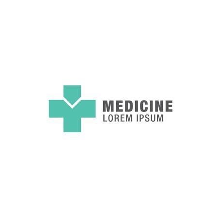 dispensary: Medicine logo design Illustration