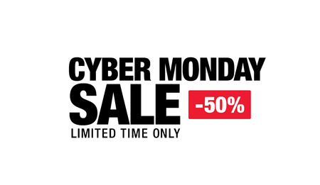 end of the days: cyber monday sale banner