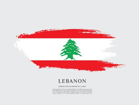 Bandera de Líbano, pincelada fondo