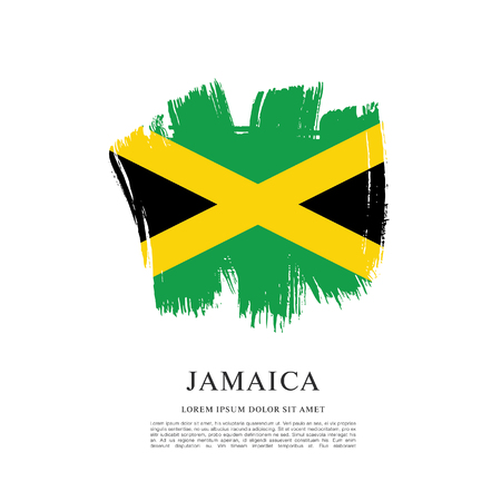 Flag of Jamaica, brush stroke pattern Illustration
