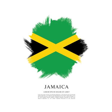 Flag of Jamaica, brush stroke pattern Illustration