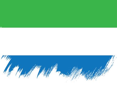 politicians: Flag of Sierra Leone, brush stroke pattern