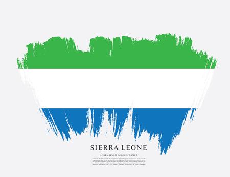 Flag of Sierra Leone, brush stroke pattern