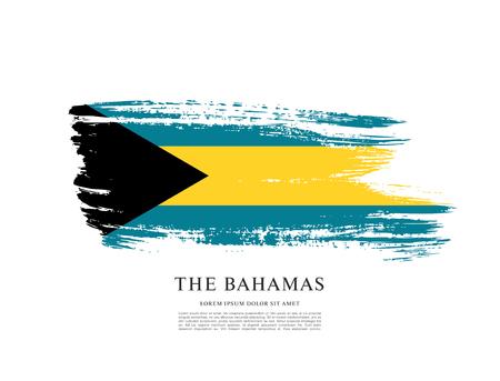 Flag of The Bahamas, brush stroke background