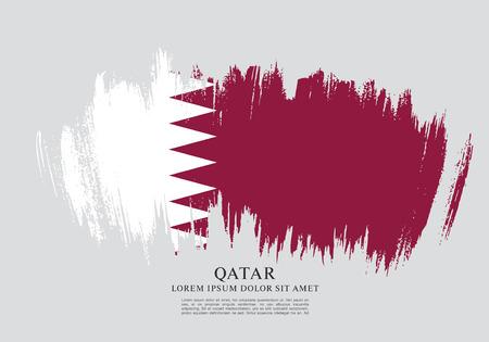Flag of Qatar, brush stroke background