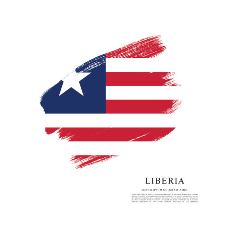 Flag of Liberia, brush stroke background