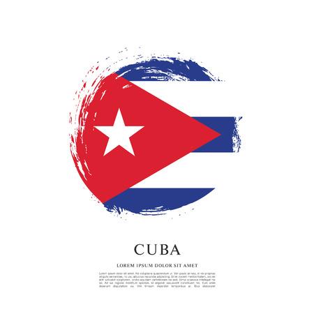 Flag of Cuba, brush stroke background