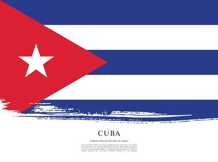 politicians: Flag of Cuba, brush stroke background