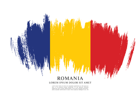 Vlag van Roemenië, penseelstreek lay-out.