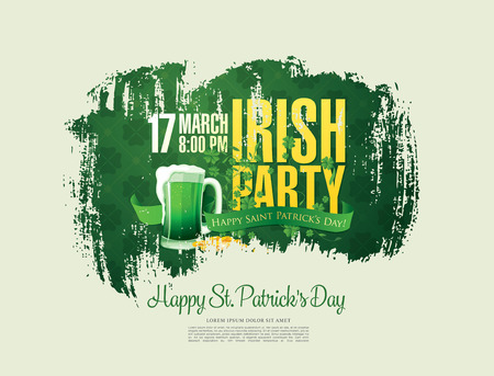 Happy Saint Patricks day. Vector illustration